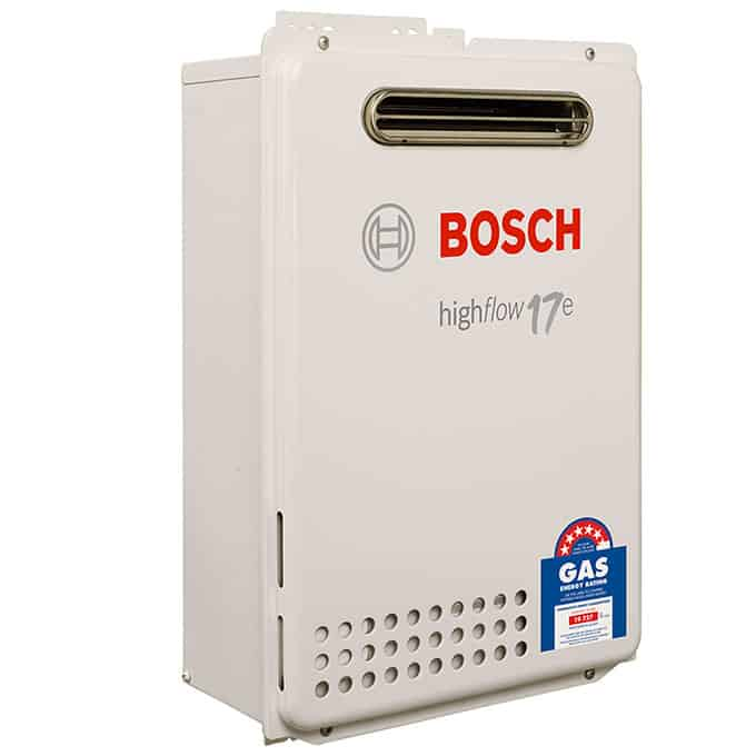 Bosch 17e sa hot water for Energy saving hot water systems