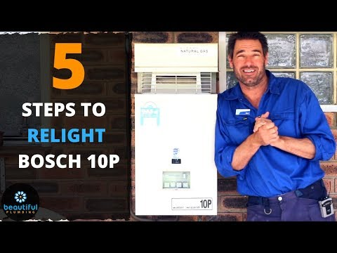 How to Relight Bosch Hot Water System. Quick. Easy